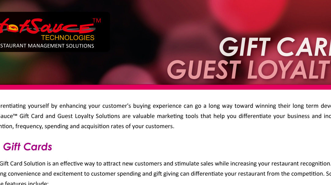 Hot Sauce Gift and Loyalty Program for restaurants.