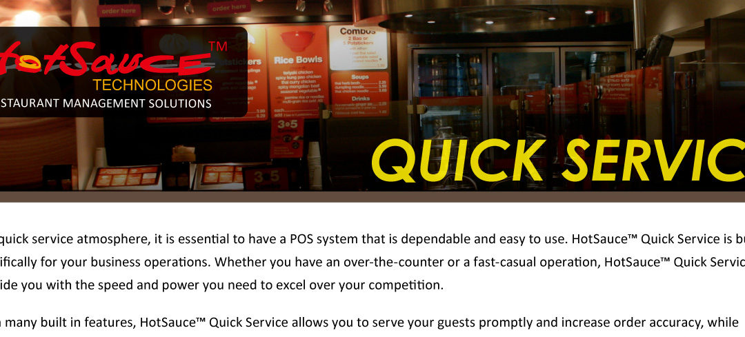 Hot Sauce Restaurant Management Solutions for quick service restaurants.